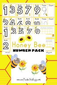 Honey Bee Number Activity Pack - CraftedwithBliss
