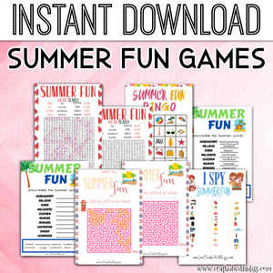 Summer Fun Game Set For Kids! - CraftedwithBliss