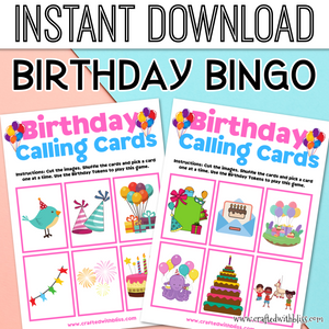 Birthday Bingo For Kids, Birthday Bingo Party