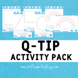 Q-Tip Activity Pack for Toddlers - CraftedwithBliss