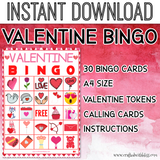 Valentine Bingo For Kids, Valentine's Bingo Birthday Party