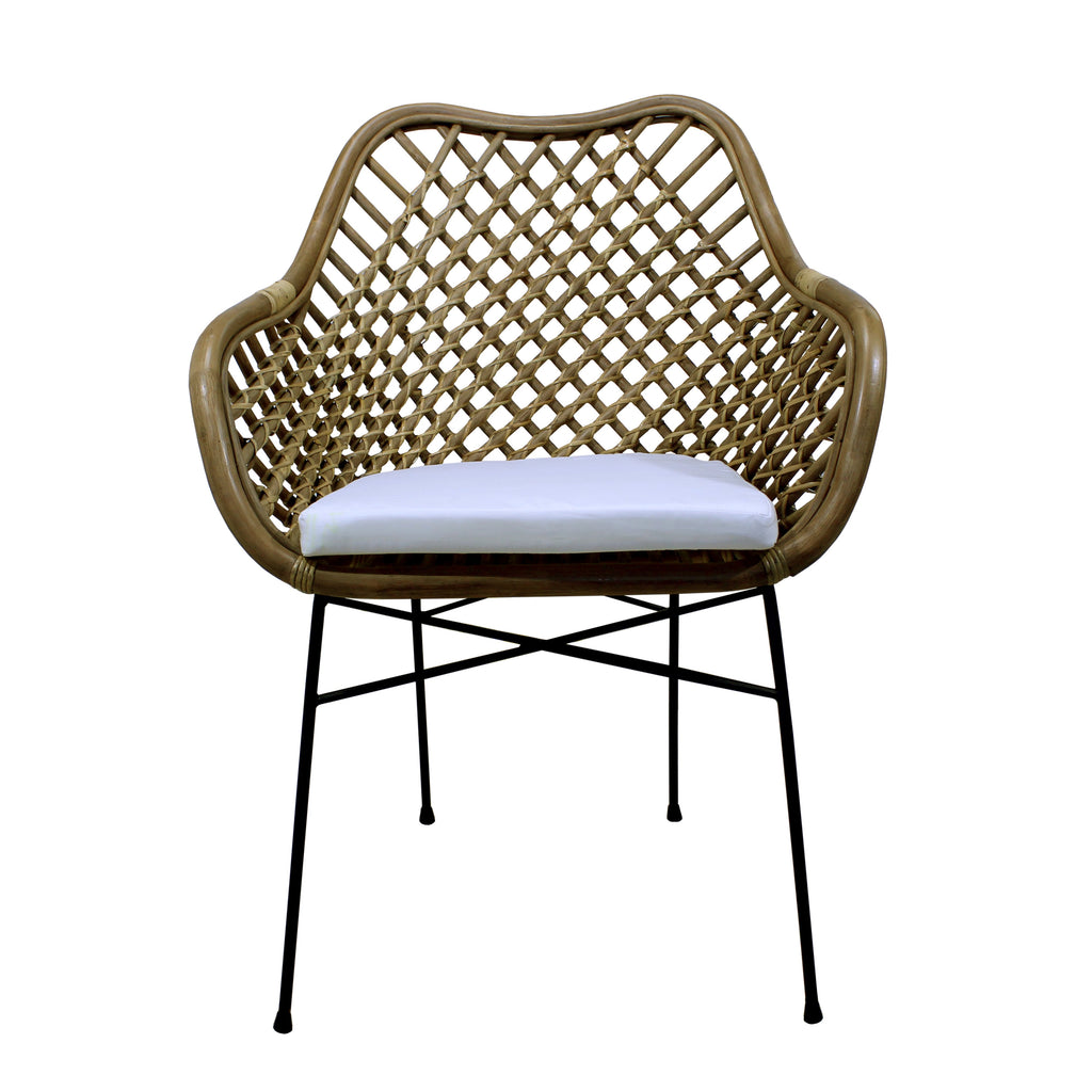 Silla de Rattan Palopo antique frente