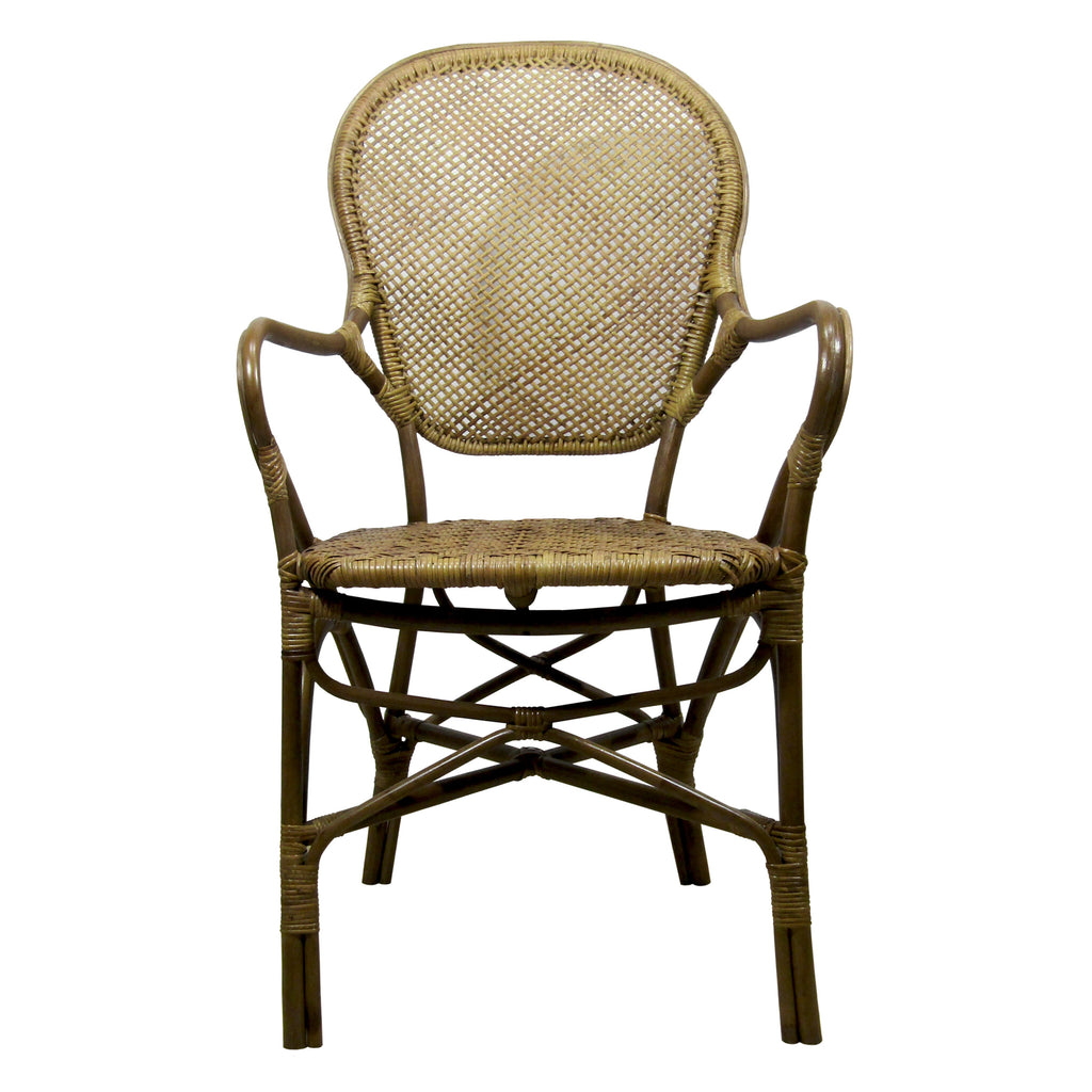Silla de Rattan Rossini antique frente