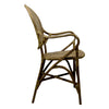Silla de Rattan Rossini antique lado