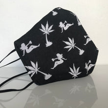 Load image into Gallery viewer, Mask - Stoner /Nonwoven /Black 100% Cotton