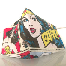 Load image into Gallery viewer, Mask - Wonder woman /Nonwoven / 100% Cotton