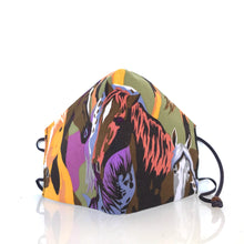 Load image into Gallery viewer, Mask - Horses/Nonwoven/ 100% cotton