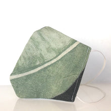 Load image into Gallery viewer, Mask - Linen paradise green/Nonwoven/ 100% cotton