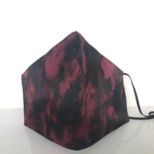 Mask - Marble Print /Nonwoven /Black 100% Cotton