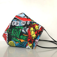 Load image into Gallery viewer, Mask - Marvel /Nonwoven /Black 100% Cotton
