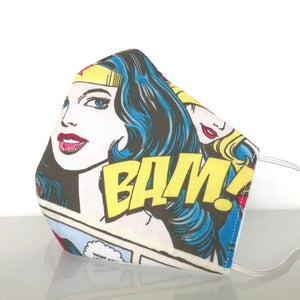 Mask - Wonder woman /Nonwoven / 100% Cotton