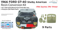 1/24 1966 Shelby American Ford GT-40 Daytona Resin Conversion for Fujimi Kits
