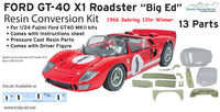 1/24 1966 Ford GT40 X-1 Roadster conversion kit for Fujimi GT40 MKII kits