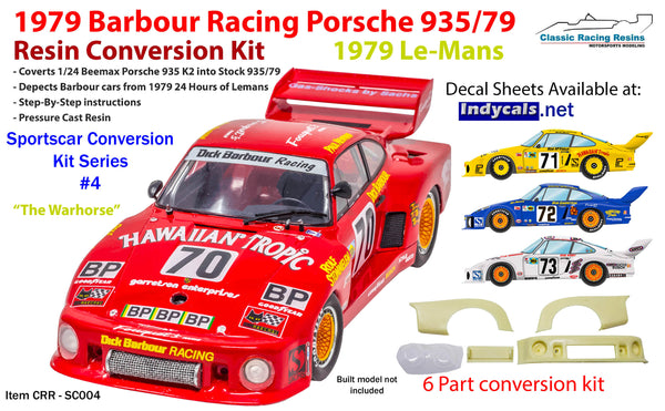 1/24 1979 Hawaiian Tropic Dick Barbour Porsche 935-79 Conversion kit for Beemax K2 kit Warhorse 009 00030