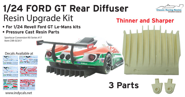 1/24 Ford GT Rear Diffuser Upgrade for Revell Plastic kits