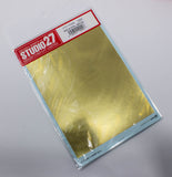 "Studio 27 Gold Foil waterslide Decal sheet - 7"" x 5"" ST27 - FP0009"