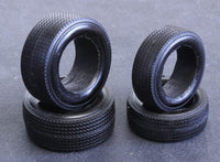 "1964 1/25 Black Indy Resin tires ""stones"" one set 2 fronts 2 rears"