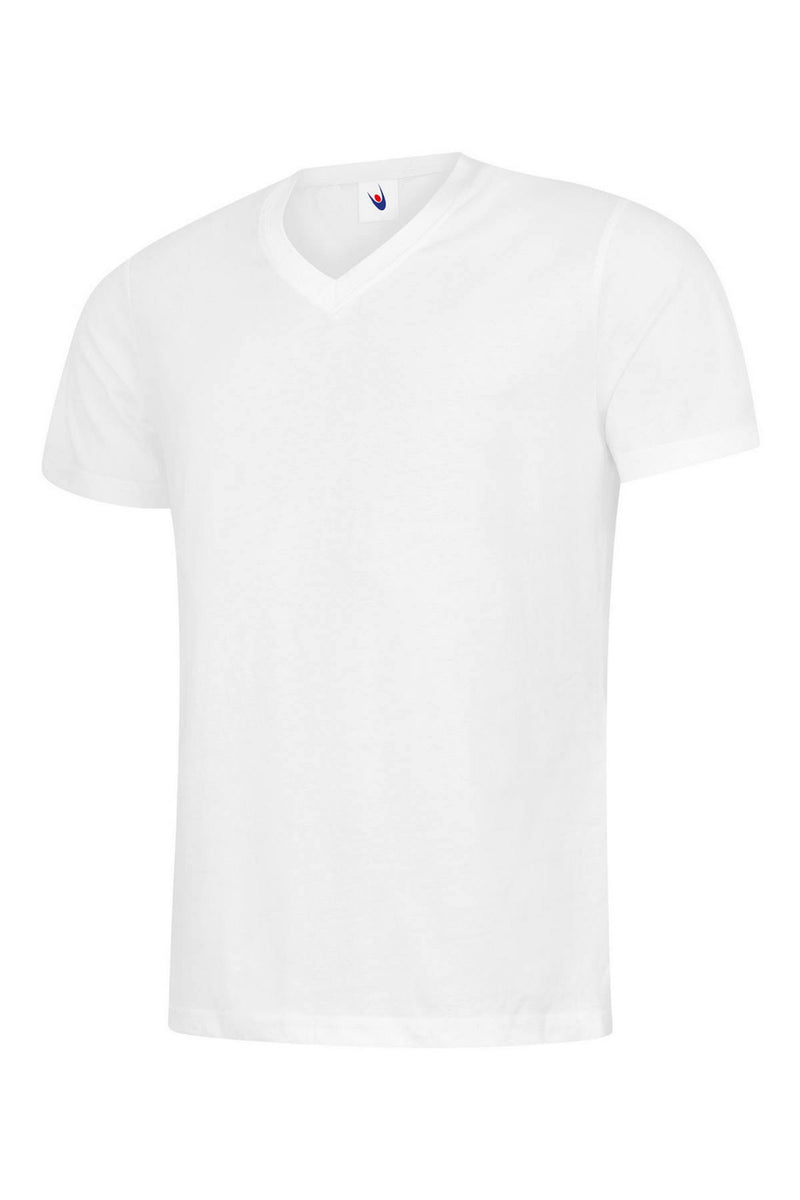 Personalised Embroidered Classic V Neck T-shirt UC317 Highest quality Workwear