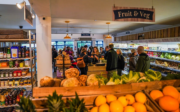 organic fruit and veg, organic groceries from local businesses
