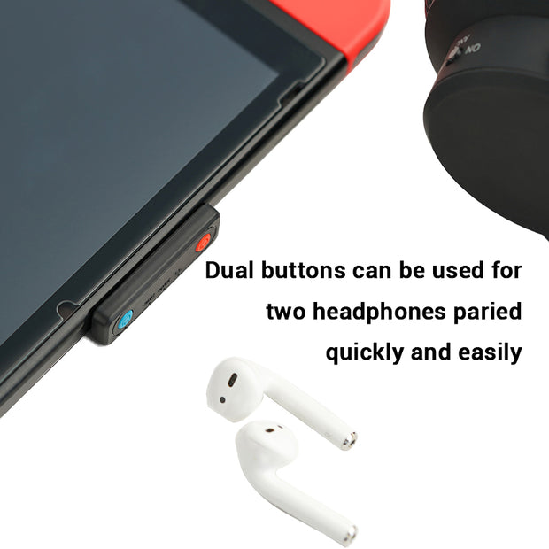 Marsback Ultra-thin Bluetooth 5.0 Audio Adapter for Nintendo Switch