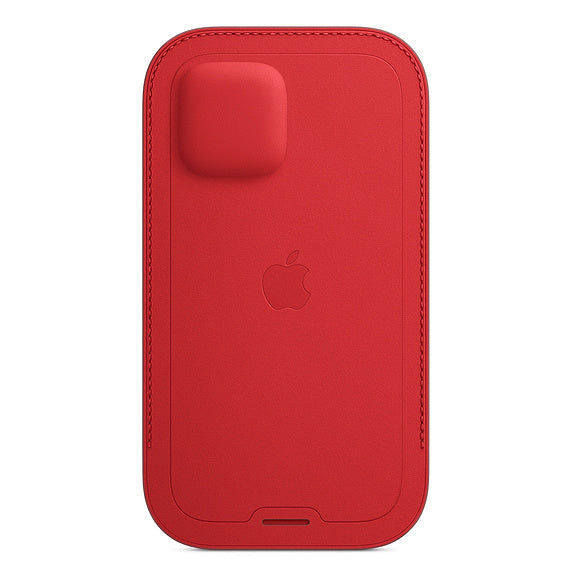 iPhone 12 | 12 Pro Leather Sleeve with MagSafe - Red