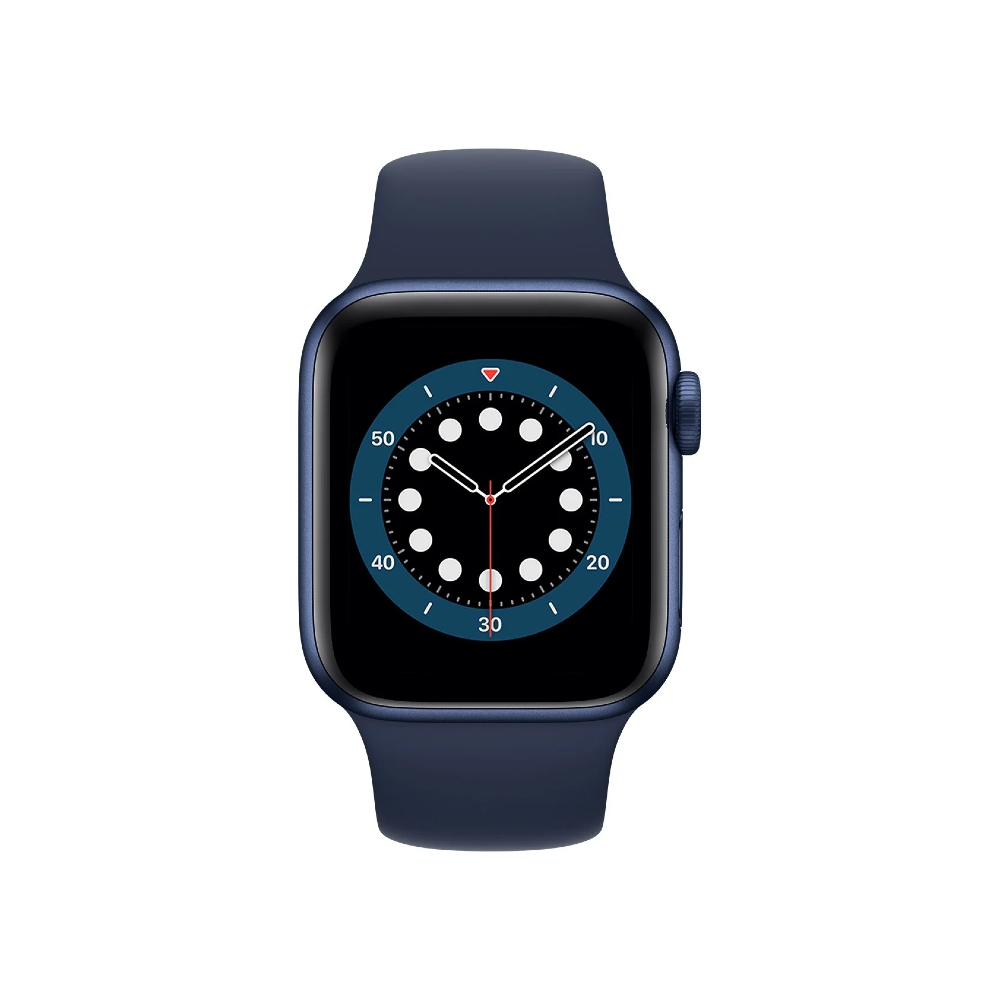 Apple Watch Series 6 44mm Blue Aluminium Case with Deep Navy Sport Band - Regular