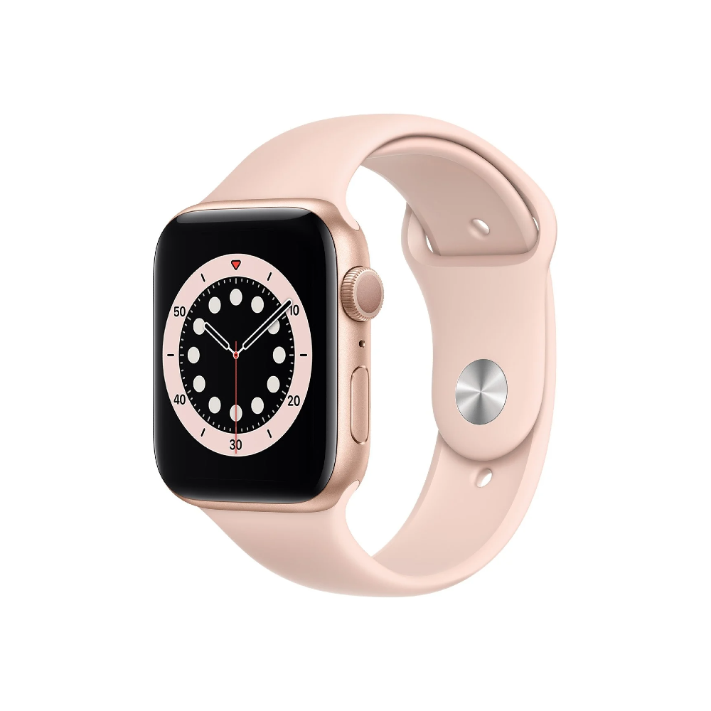 Apple Watch Series 6 44mm Gold Aluminium Case with Pink Sand Sport Band - Regular