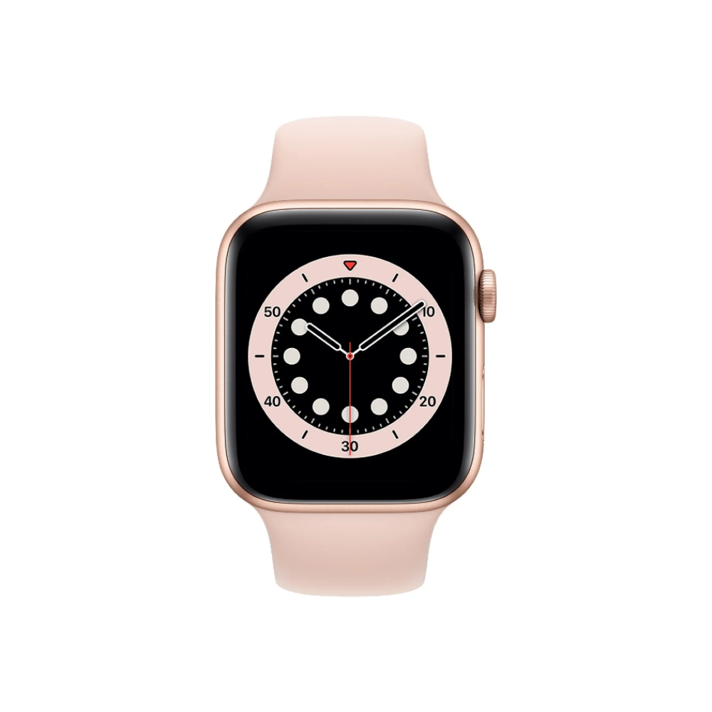 Apple Watch Series 6 40mm Gold Aluminium Case with Pink Sand Sport Band - Regular