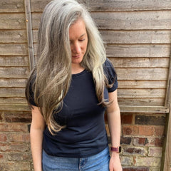 Nell in navy jersey tshirt