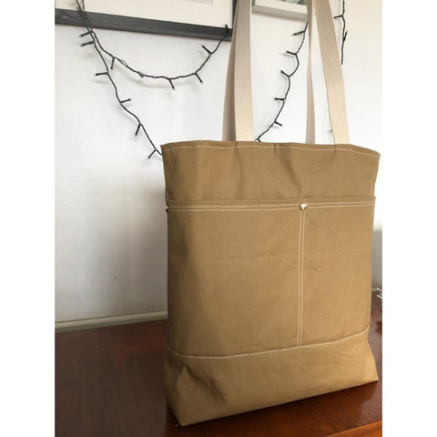tote bag in dry wax cotton bag