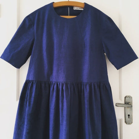Merchant and Mills Ellis dress in Indigo