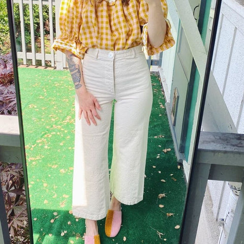 Persephone pants by anna allen in white