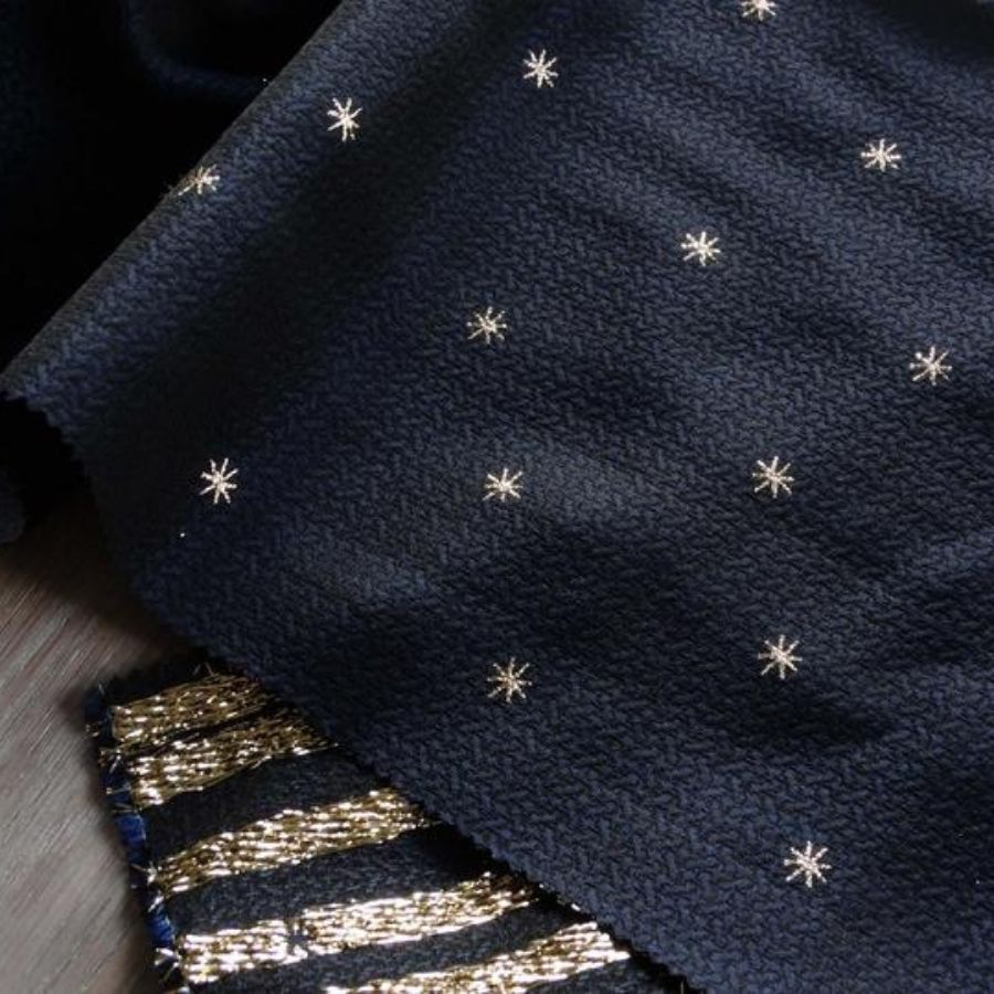 Atelier 27 Constellation jacquard in midnight fabric