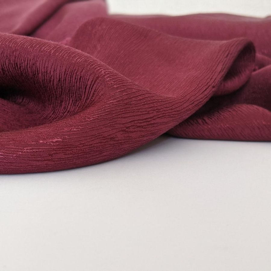 Cupro Tencel Bark Crepe in Burgundy sixth view