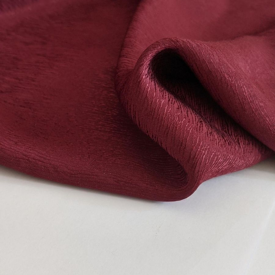Cupro Tencel Bark Crepe in Burgundy third view