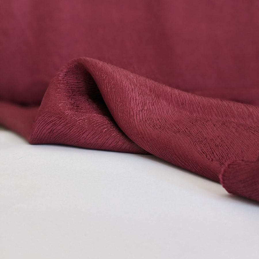Cupro Tencel Bark Crepe in Burgundy seventh view