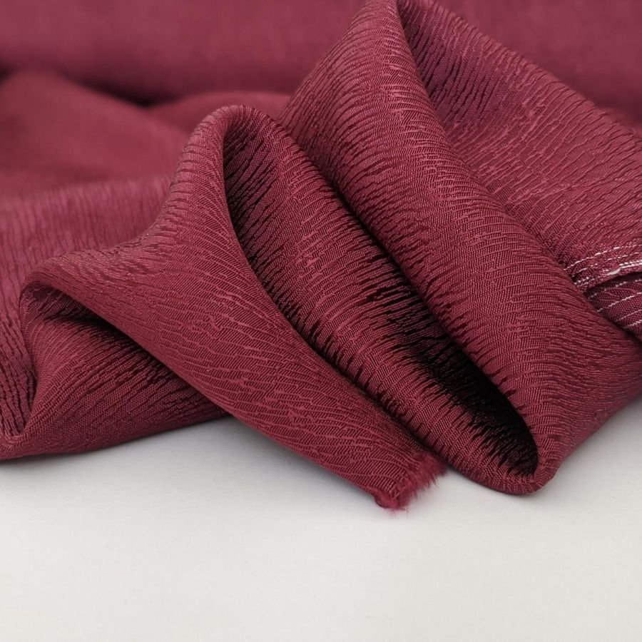 Cupro Tencel Bark Crepe in Burgundy fourth view