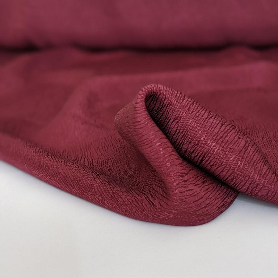 Cupro Tencel Bark Crepe in Burgundy fifth view