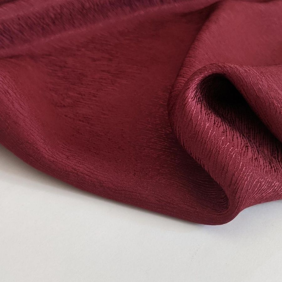 Cupro Tencel Bark Crepe in Burgundy