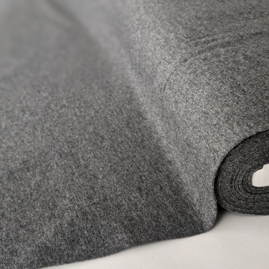 Good Fabric Anthracite Melange jersey overview