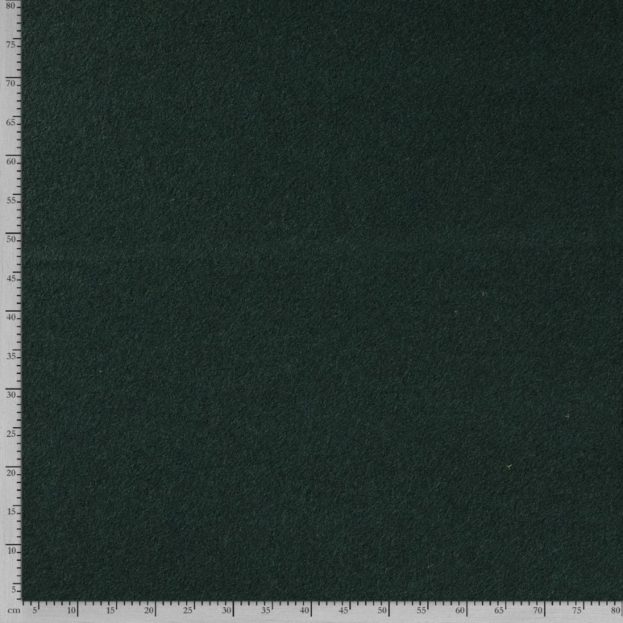 Wool boucle in dark green size view