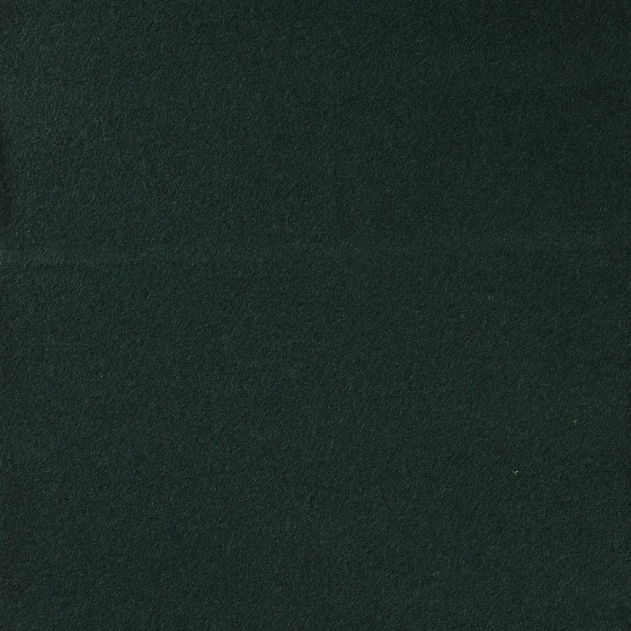 Wool boucle in dark green