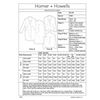 Homer and Howells Blair blazer fabric requirements chart