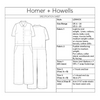 Homer and Howells Lenox Jumpsuit spec sheet