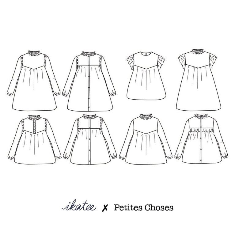 Ikatee Pattern Louise Sketch view