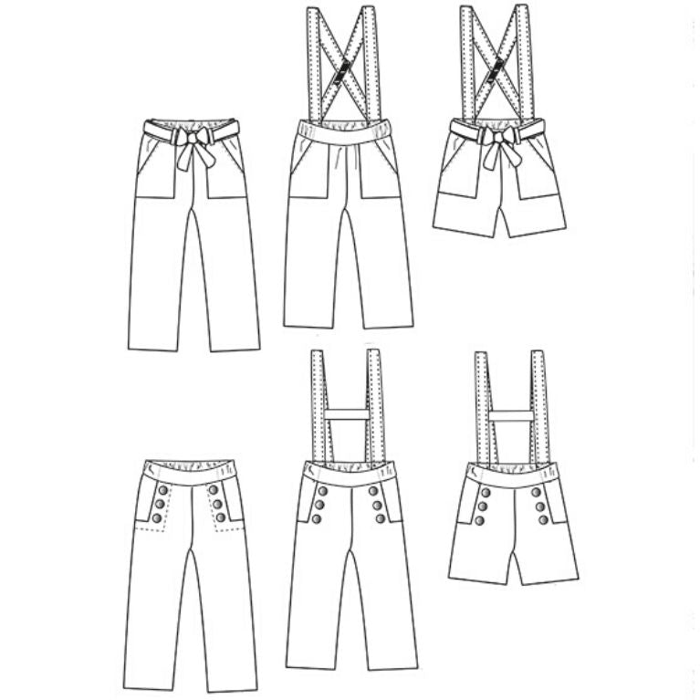 Ikatee Sewing Pattern Avana sketches