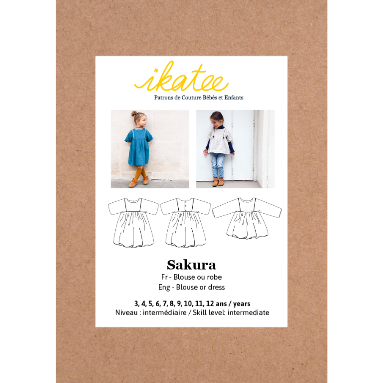 Ikatee Sewing Pattern Sakura Top and Dress pattern cover