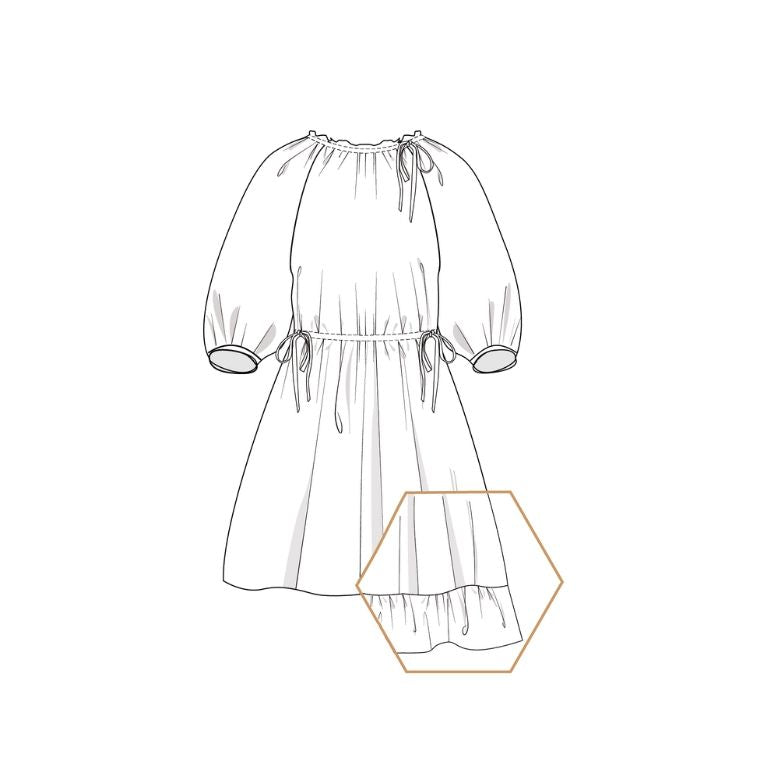 Lenaline Pattern Dasha Dress sketch