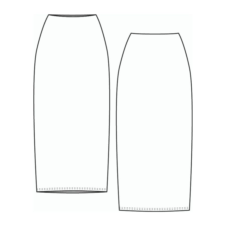 Lenaline Patterns Anna Skirt sketch view