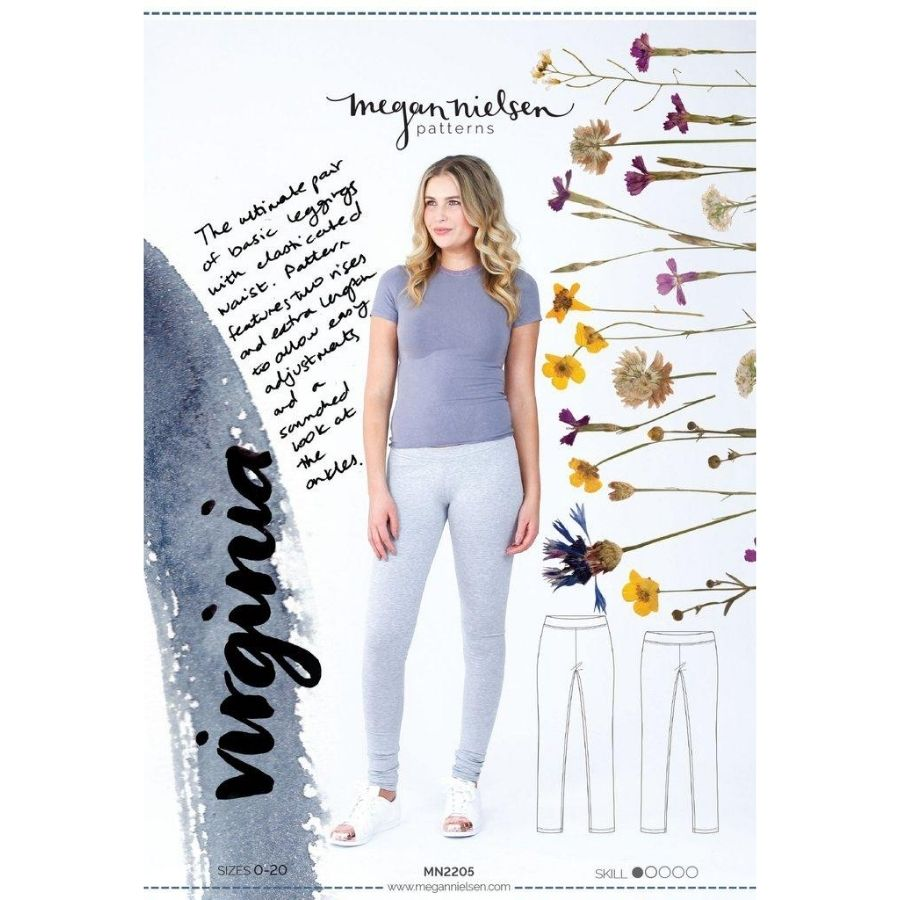 Megan Nielsen Virginia leggings front cover